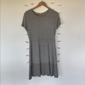 Gap flowing ribbed gray mini dress